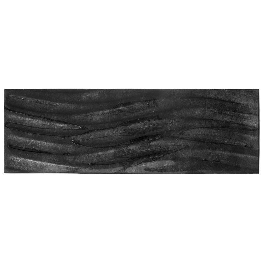 Jeffrey Court Silver Foil Waves 8 in. x 24 in. x 8 mm Glass Wall Tile