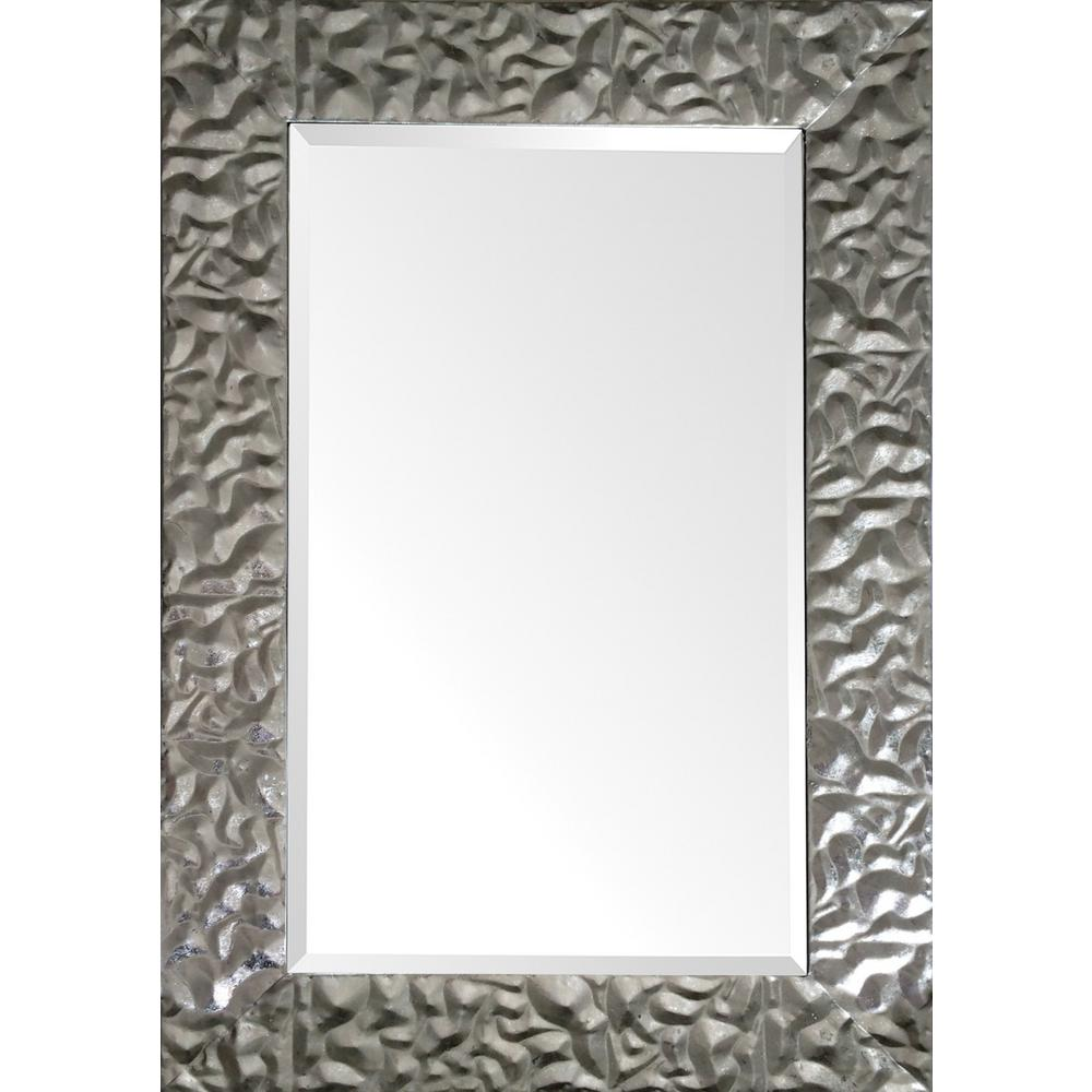 36 in. x 24 in. Venusia Framed Wall Mirror