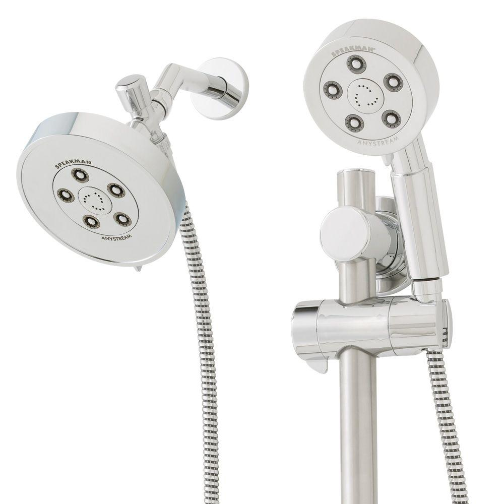 Neo Anysream 3-Spray Hand Shower and Fixed Showerhead Combo with ADA