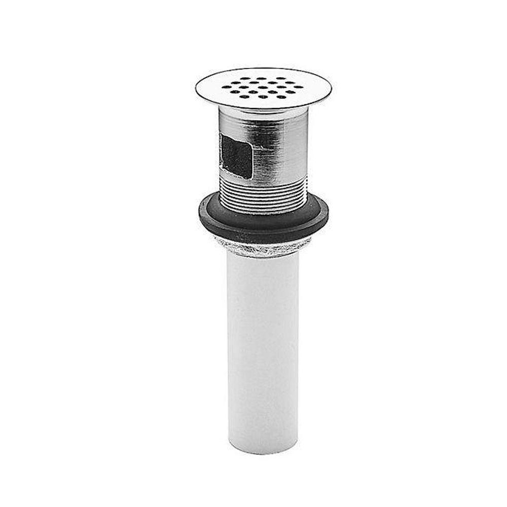 Ashfield Metal Grid Strainer with Overflow in Polished Chrome