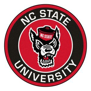 2d622c014 NCAA North Carolina State University 27 in. Round Roundel Mat Area Rug.  FANMATS ...