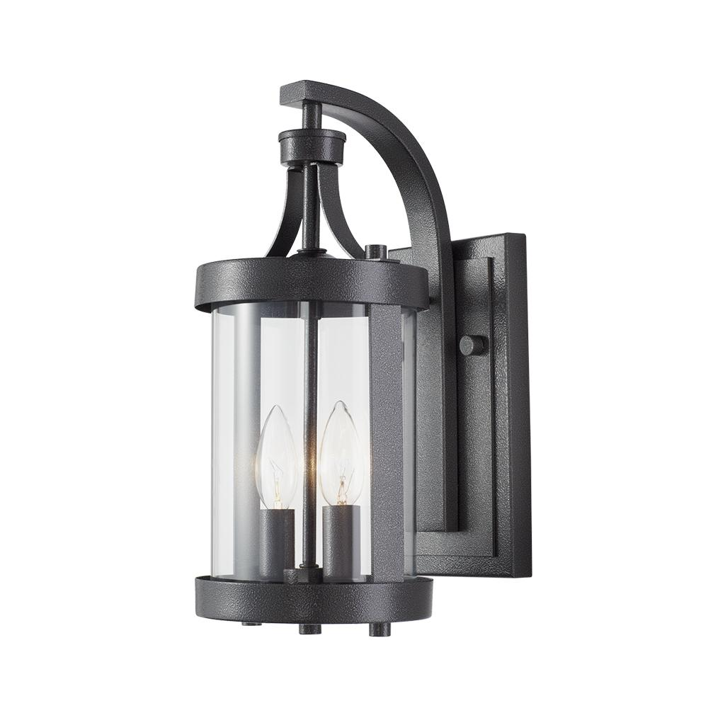 Home Decorators Collection Caged 2 Light Aged Iron Large Outdoor Wall Lantern Dc C3084 The