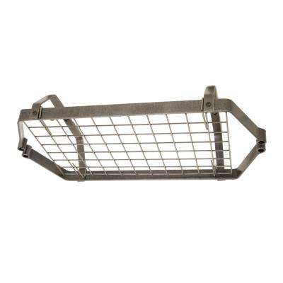 Handcrafted Low-Ceiling Retro Rectangle with 12 Hooks Hammered Steel