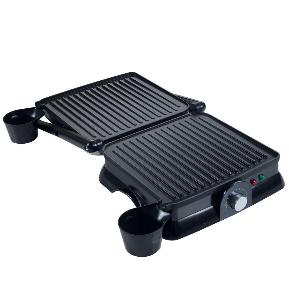 Chef Buddy Gourmet Sandwich Maker and Panini Press, Silver You can be the hit of the household by making every meal an unforgettable one with the Gourmet Sandwich Maker and Panini Press by Chef Buddy. The easy to clean, convertible grill turns healthy cooking, grilling, and toasting into a breeze for chefs of all experience levels. It truly makes multi-functional and effortless cooking a reality. Color: Silver.