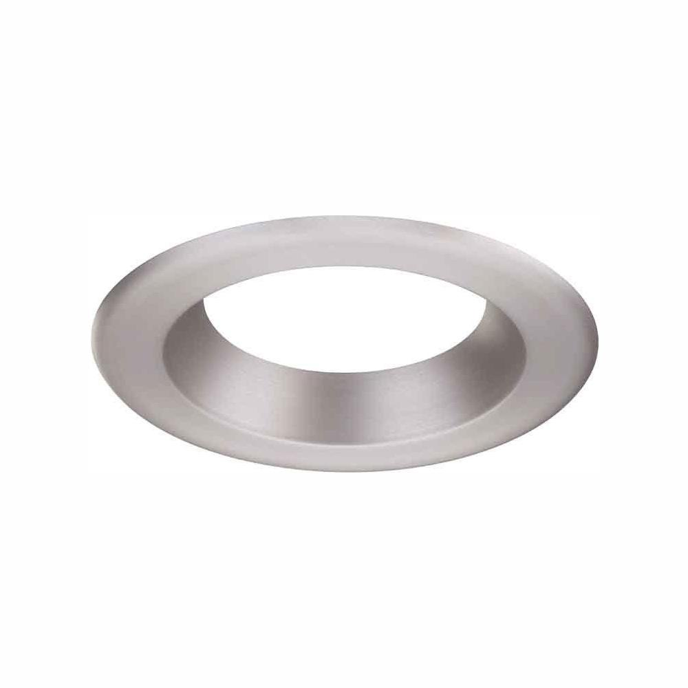 Envirolite 6 In Decorative Brushed Nickel Trim Ring For Led Recessed Light With Trim Ring