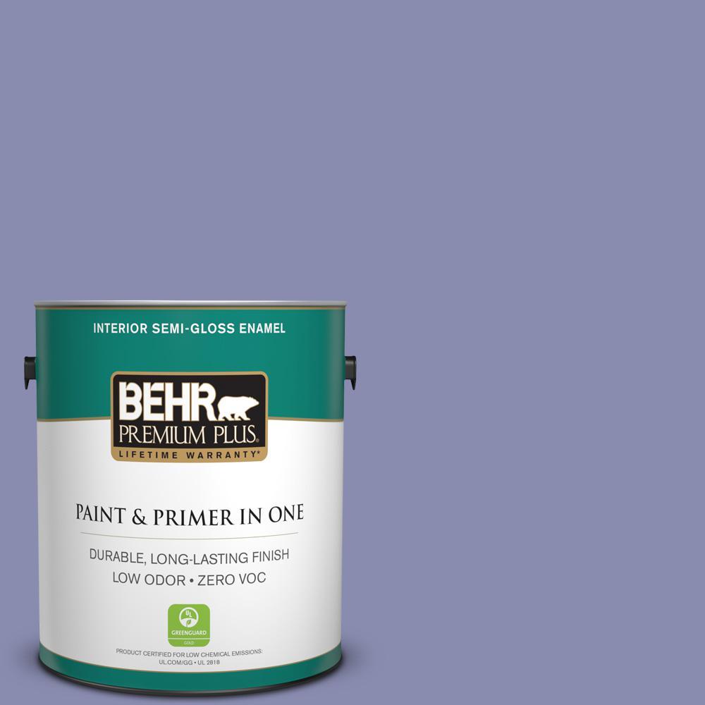 1-gal. #M550-5 Violet Aura Semi-Gloss Enamel Interior Paint