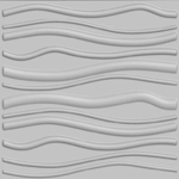 Kingsman Hardware 31.4 in. x 24.6 in. x 1 in. Off-White Plant Fiber Faktum Design Glue-On Wainscot Wall Panels 32 Sq Ft. (6-Pack)