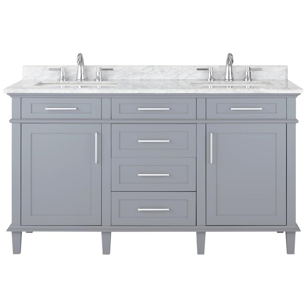 Home decorators collection sonoma 60 in w x 22 in d Home decorators bathroom vanity