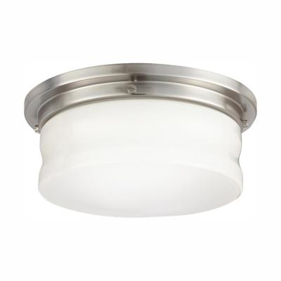 13 in. Brushed Nickel LED Flush Mount