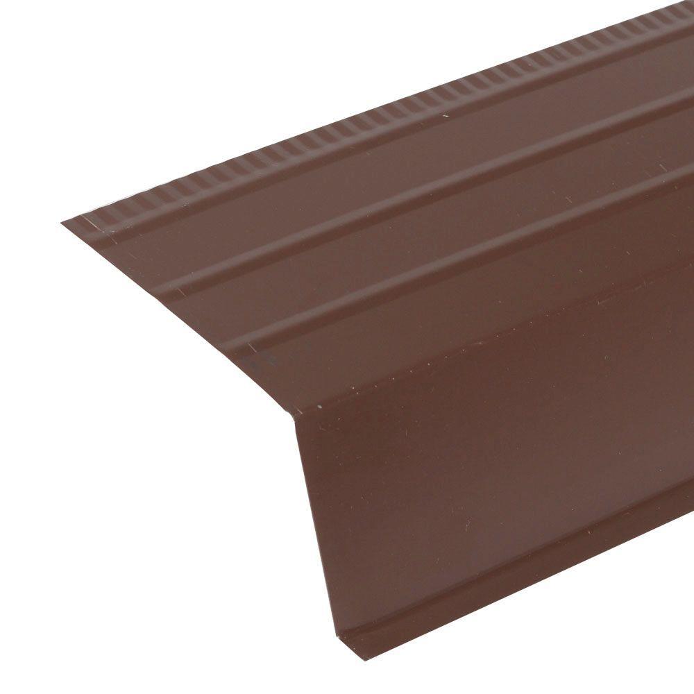 10 ft. Steel Brown Roof Apron Contractor