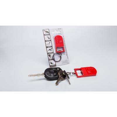Micro-Light Smartphone Stand with Key Chain in Red Color, Bottle Opener, Microlight, Can Opener, Mobile Phone Stand