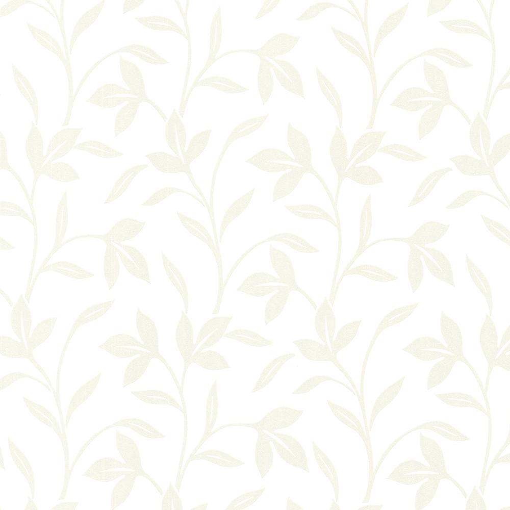 Brewster 56.4 sq. ft. Cynthia Champagne Tonal Leaf Trail Wallpaper 2532-20480