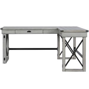 new style 4ef74 ad8b7 Ameriwood Wildwood Rustic White L-Shaped Desk with Lift Top ...