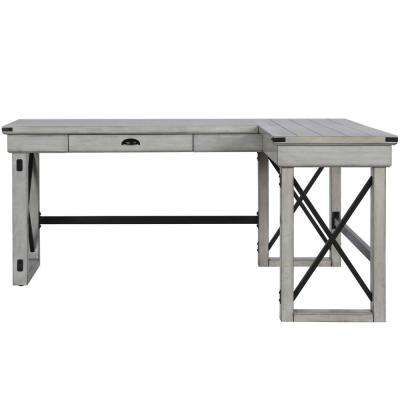 Incroyable Wildwood Rustic White L Shaped Desk With Lift Top