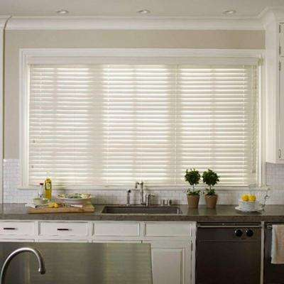 Beige 2 5 Faux Wood Blinds Blinds The Home Depot