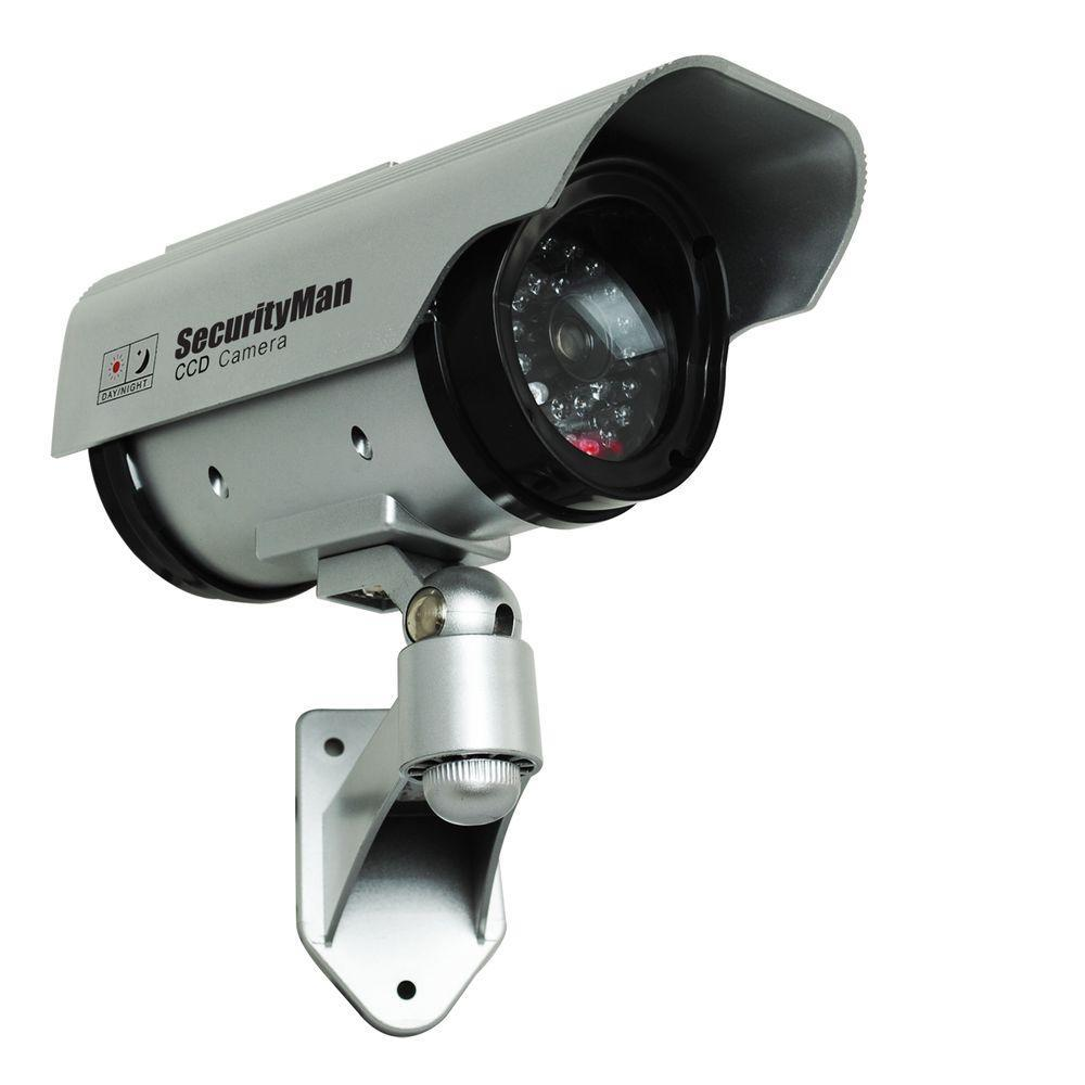 SecurityMan Solar Indoor/Outdoor Dummy Security Camera with LED-SM ...