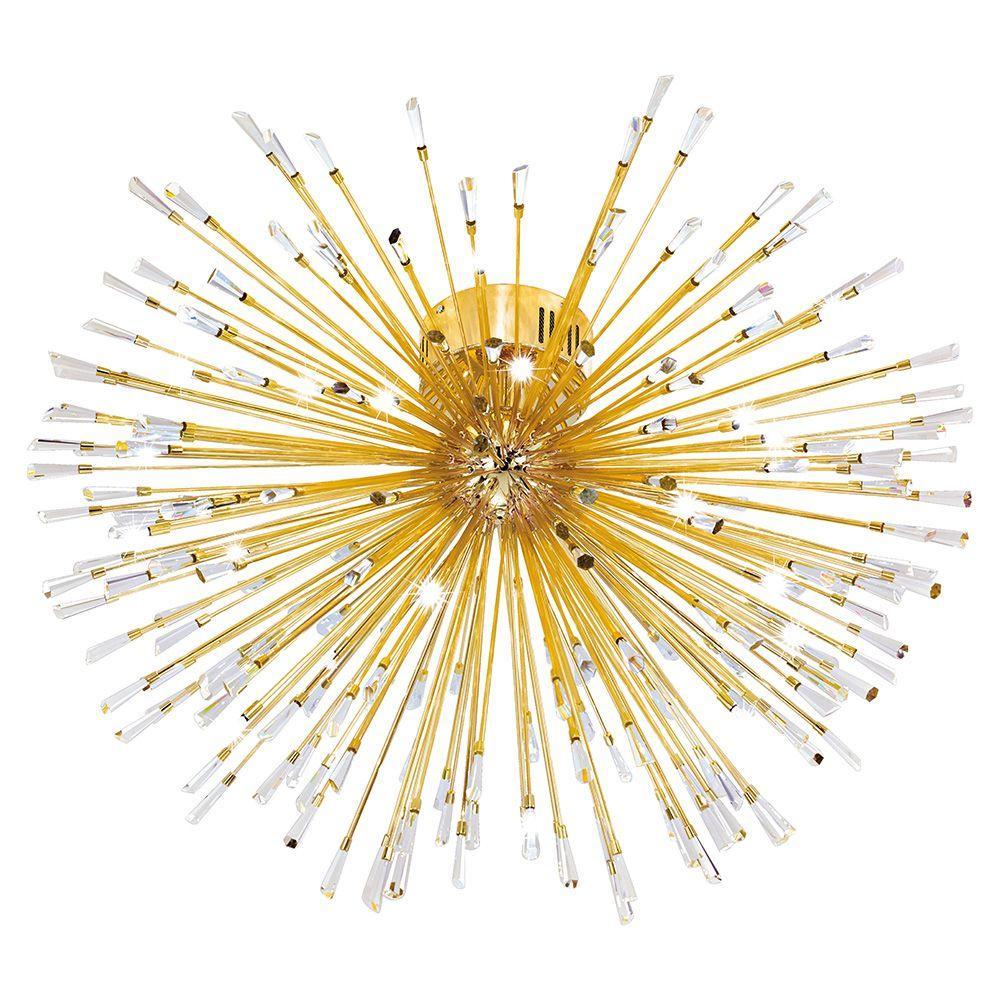 Vivaldo 22-Light Gold Ceiling Light