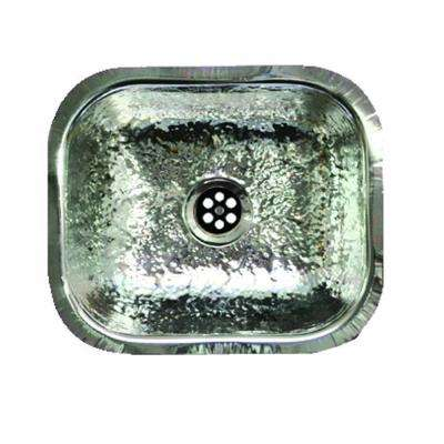 Undermount Hammered Stainless Steel 13-3/4 in. Single Bowl Bar Sink in Stainless Steel