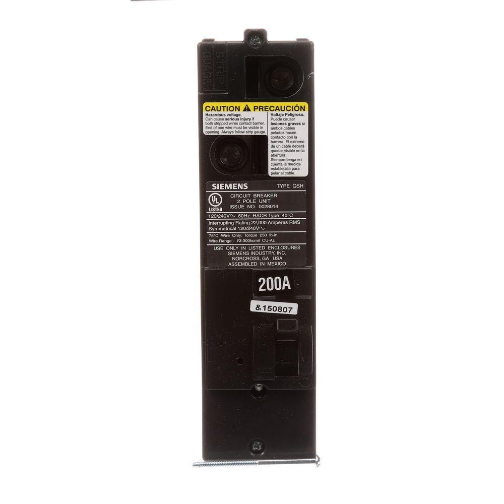 200 Amp Double-Pole 22kA Type QS Multi-Family Main Breaker