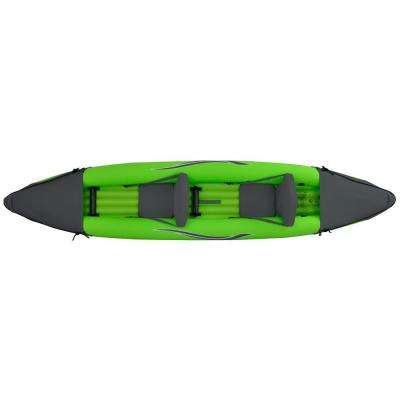 12 ft. Green Inflatable 2-Person Sport Kayak with Rotatable Paddle