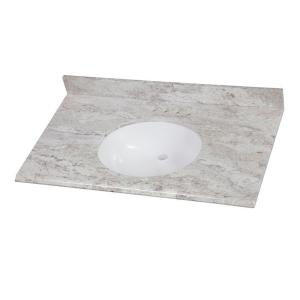 Custom Bathroom Vanity Tops Online home decorators collection 37 in. w stone effects vanity top in