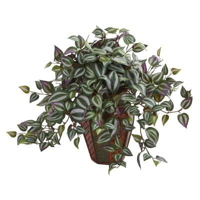 Indoor Wandering Jew Artificial Plant in Decorative Planter