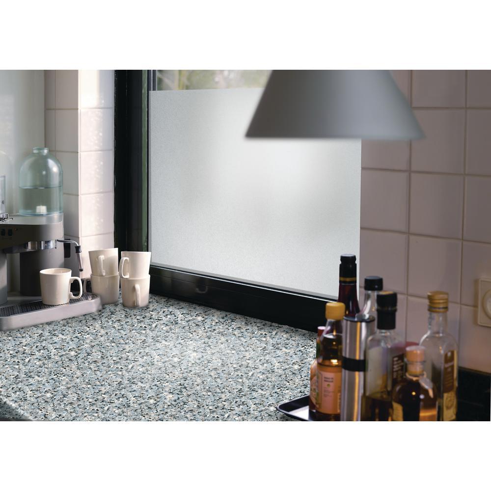 26 in. x 78 in. Granite Grey Home Decor Self Adhesive Film Pack