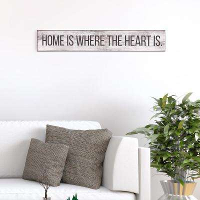Home Is Where the Heart Is Wood Sign