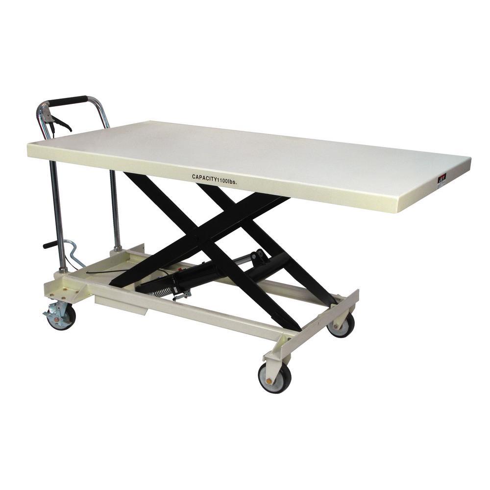 Jet Slt 1100 Jumbo Scissor Lift Table 140780 The Home Depot