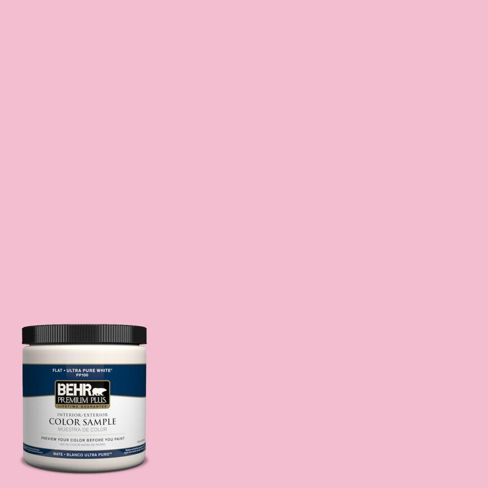8 oz. #PPH-33 Carnation Bouquet Flat Zero VOC Interior/Exterior Paint and