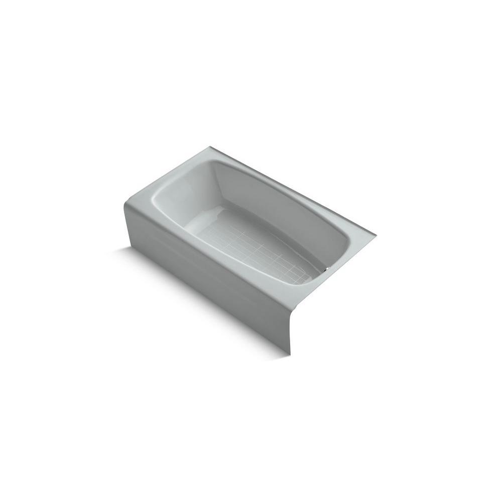 KOHLER Seaforth 4.5 ft. Bathtub in Ice Grey-DISCONTINUED