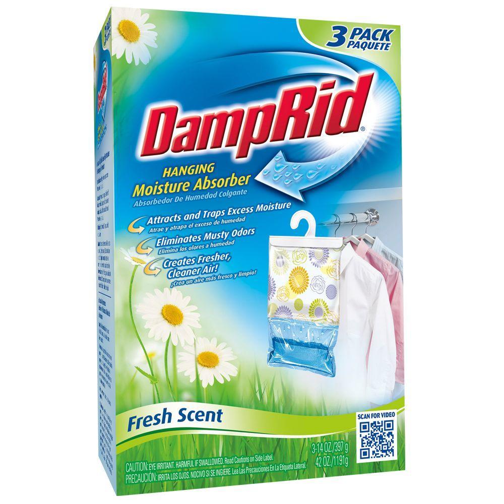 DampRid 42 Oz. Fresh Scent Hanging Moisture Absorber (3