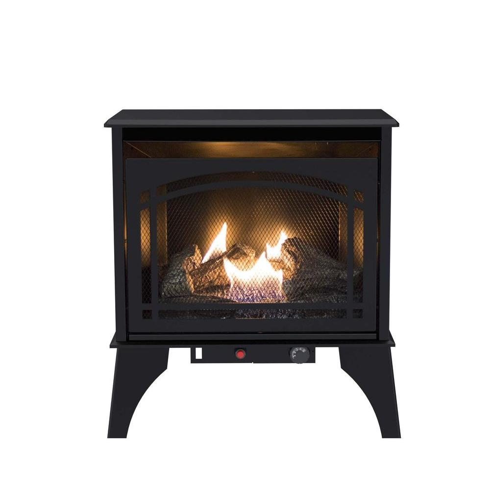 Pleasant Hearth 23 5 In 20 000 Btu Compact Vent Free Dual