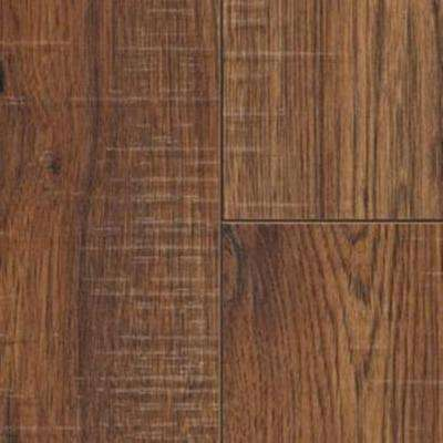 Distressed Brown Hickory Laminate Flooring - 5 in. x 7 in. Take Home Sample