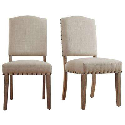 Bunker Hill Oatmeal Linen Dining Chair (Set of 2)