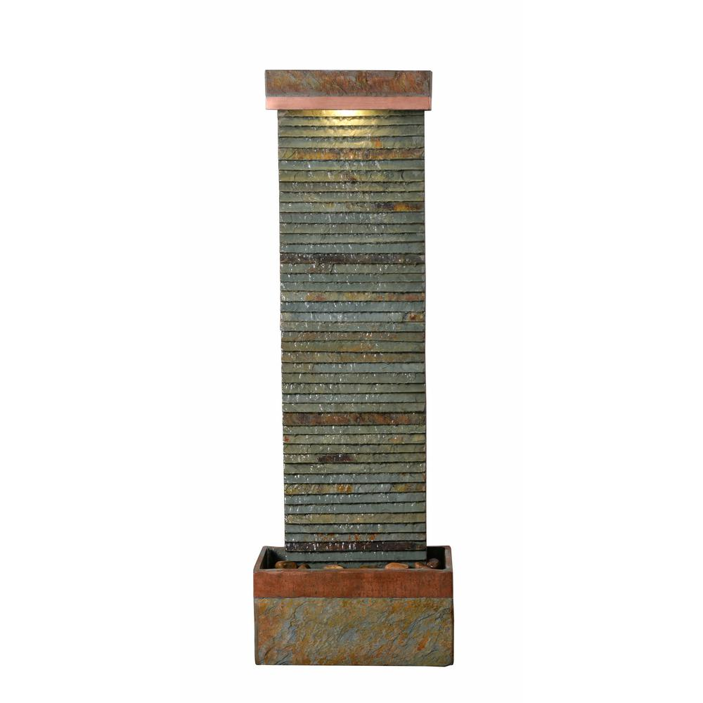 Details about Stave Resin Slate Floor Fountain Indoor Outdoor Waterfall Water Decorative Home