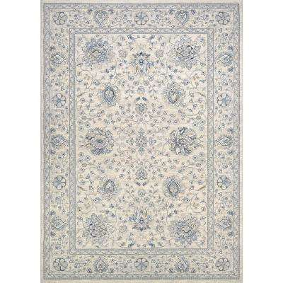 Sultan Treasures Persian Isfahan Antique Creme 9 ft. x 12 ft. Area Rug