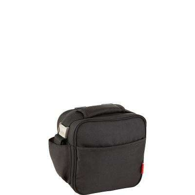 Soft Black Lunch Bag (0.75 l and 0.5 l containers included)