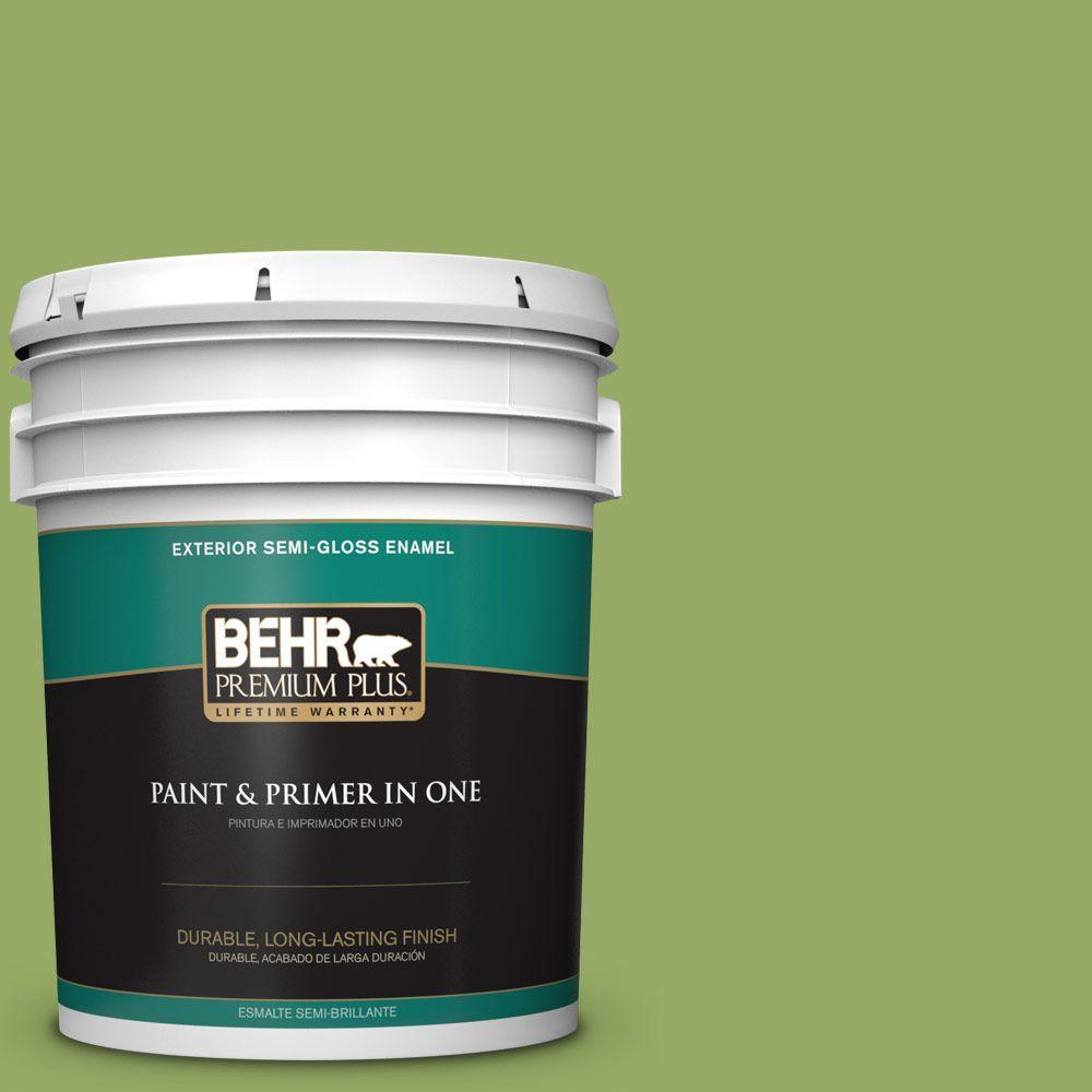 BEHR Premium Plus 5-gal. #420D-5 Herbal Garden Semi-Gloss Enamel Exterior Paint