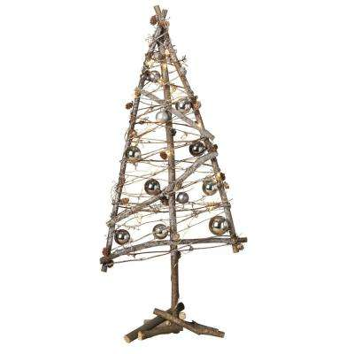 31 in. Battery Operated Lighted Twig Tree
