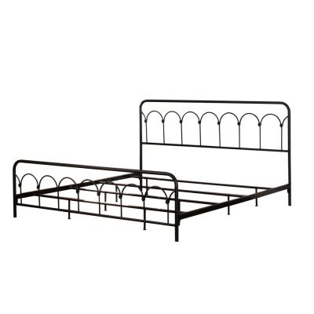 Jolene Textured Black King Bed