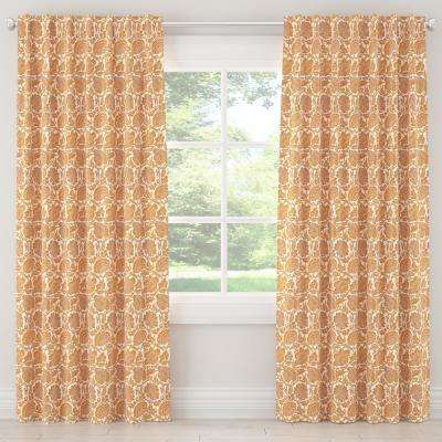 50 in. W x 63 in. L Unlined Curtains in Japanais Orange
