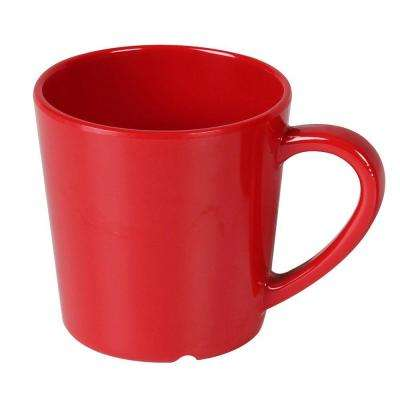 Coleur 7 oz., 3-1/8 in. Mug/Cup in Pure Red (12-Piece)