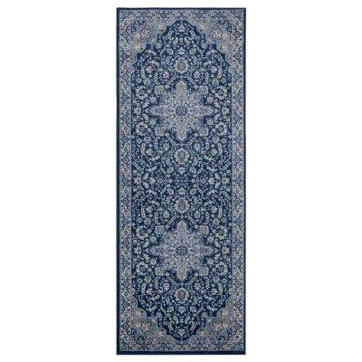 Clairmont Bari Denim Blue 2 ft. 7 in. x 7 ft. 2 in. Runner Rug