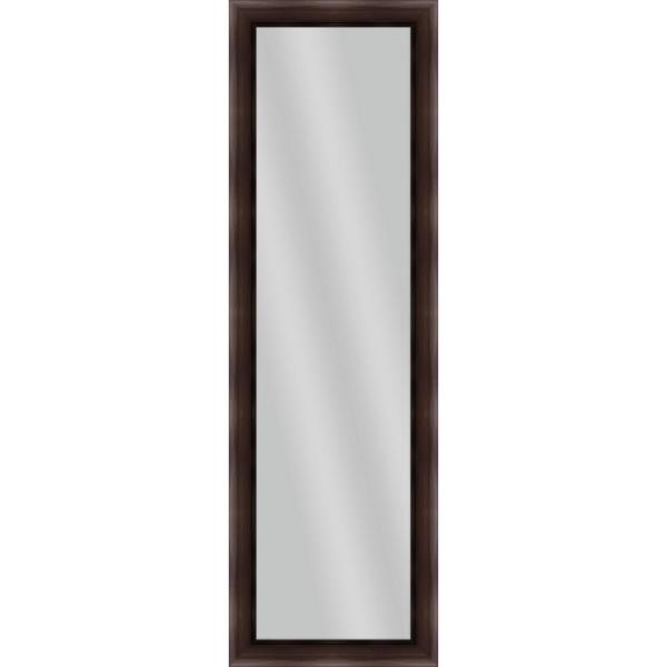 Large Rectangle Brown Art Deco Mirror (52.25 in. H x 16.25 in. W)