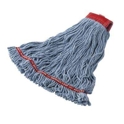 Medium Blue Web Foot Shrink-Less Mop (Case of 6)
