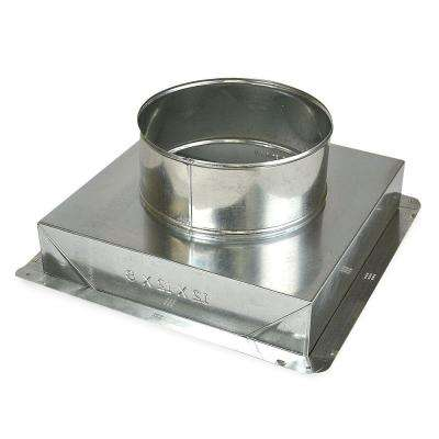 12 in. x 8 in. to 8 in. Ceiling Register Box
