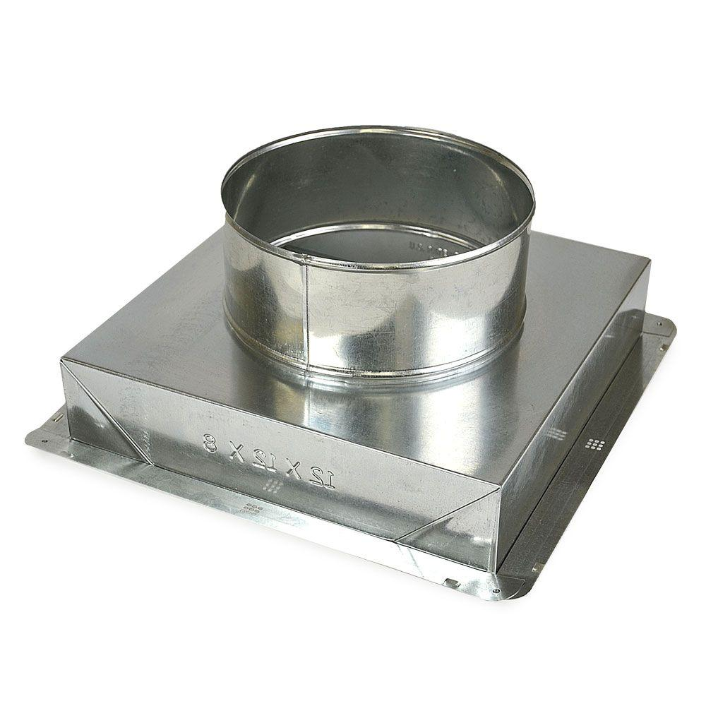 Master Flow 14 in. x 14 in. to 12 in. Ceiling Register Box