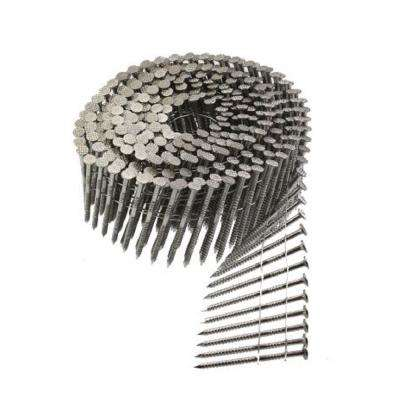 6d 2 in. 15 Wire Coil, Painted Full Round Head, Ring-Shank Nail (1,200-Pack)