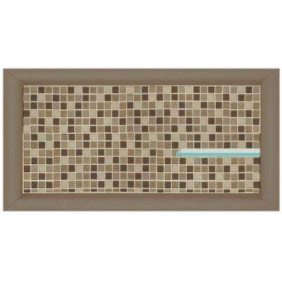 Roma 24 in. x 4 in. x 12 in. Shower Niche in Brown Sugar